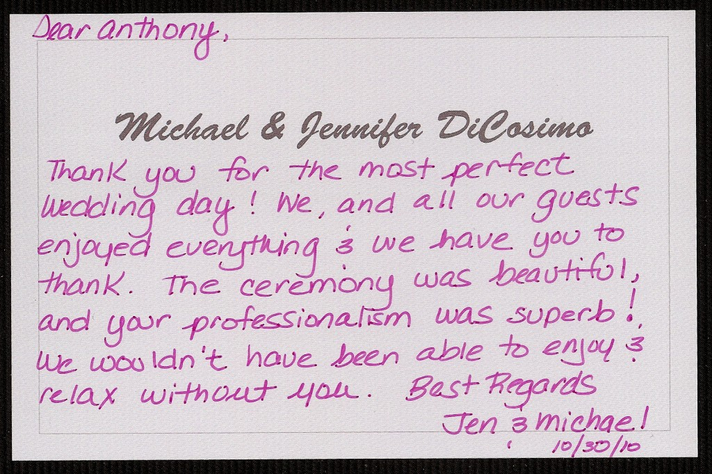 Jen and Michael thank you
